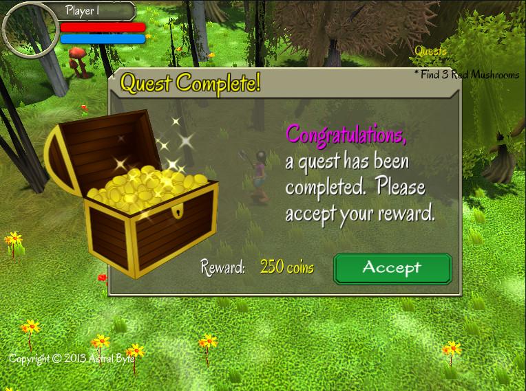 Quest Complete Dialog