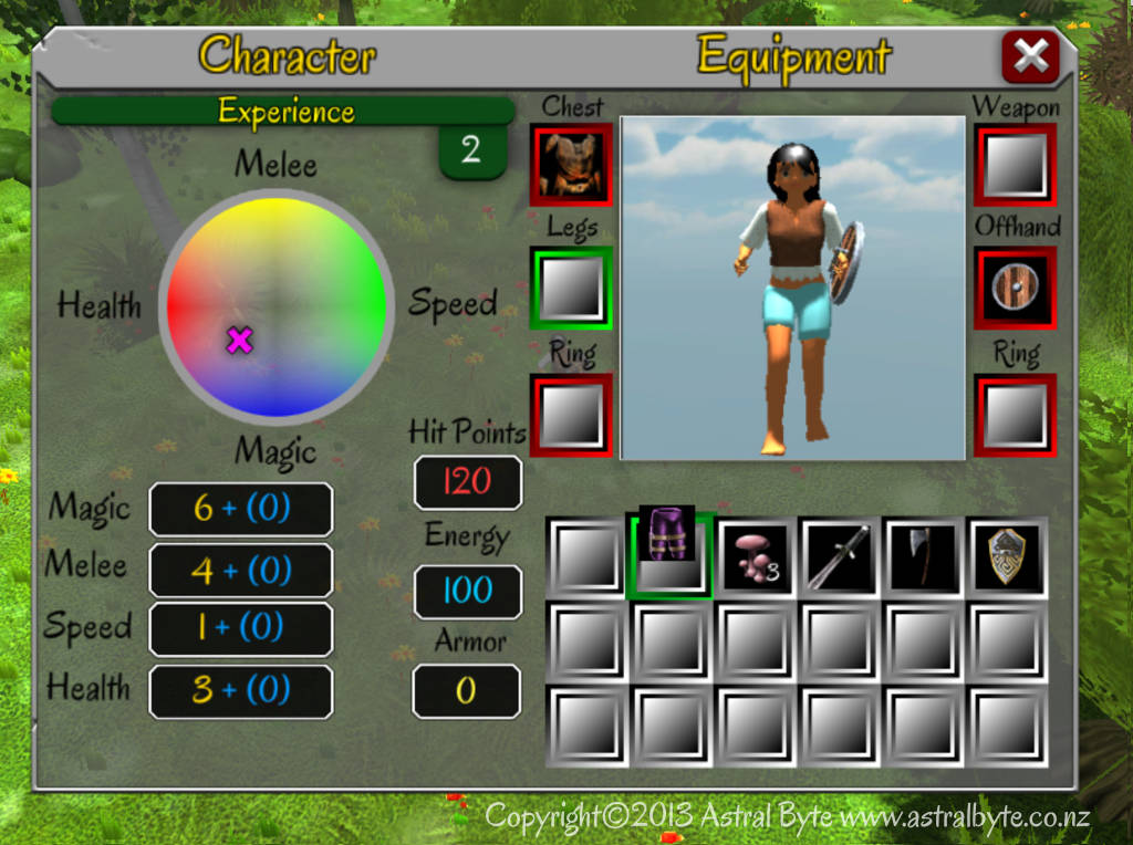 Using the inventory system