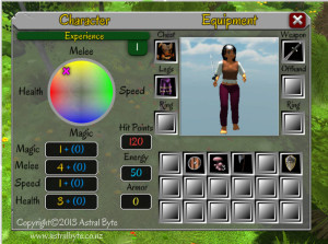 In game layout